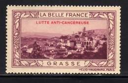 VIGNETTE NEUVE ** LA BELLE FRANCE - LUTTE ANTI-CANCEREUSE - GRASSE - Commemorative Labels