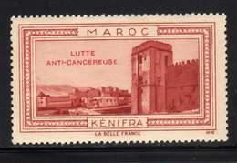 VIGNETTE NEUVE ** LA BELLE FRANCE - LUTTE ANTI-CANCEREUSE - KENIFRA - Commemorative Labels