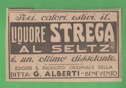 Liquore Strega Al Seltz 1923 - Books, Magazines, Comics