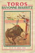 Programme Officiel 14 Et 15 Août 1955 TOROS Arènes De BAYONNE-BIARRITZ : PERALTA - ORTEGA - JUMILLANO - CHICUELO II - Programs