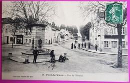 Cpa Pont De Vaux Rue De L' Hopital Carte Postale 01 Ain Proche Macon Tournus Romenay Cuisery Saint Trivier - Pont-de-Vaux