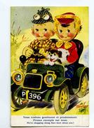 C 18962  -  Taylor  -  Nous Roulons Gentiment  -  We're Chugging Along Fine - Petit Couple, Auto, Chien - Taylor