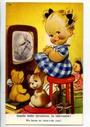 C 18963  -  Taylor  -  Quelle Belle Invention, La Télévision ! - We Loves To View, Do You ! - Fillette, Poupée, Peluches - Taylor