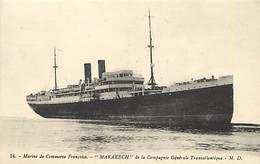 Ref N51- Bateaux - Marine De Commerce Francaise - Marakech  - Carte Bon Etat  - - Commerce