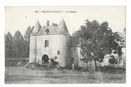HAPPLINCOURT  Cne De NOYON   (cpa 80)  Le Château- ##  RARE ##  - L 1 - France