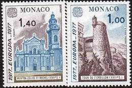 CEPT / Europa 1977 Monaco N° 1101 Et 1102 ** Paysages - Europa-CEPT