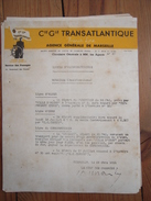 Compagnie Générale Transatlantique CGT French Line Circulaire Paquebots Ville-de-Marseille, Gascogne, De Grasse, Liberté - Transports