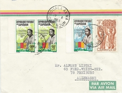 Cameroun Cameroon 1964 Douala Akwa President Ahidjo Flag Bananas Cover - Kameroen (1960-...)