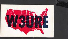 STATI UNITI  1963 - Levittown - Cartina USA - Radio Amatoriale