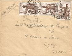 Gabon 1952 Fougamou Canoe Via Lambarene Libreville Cover - Covers & Documents