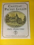 2912 - Suisse Vaud Château Pictet-Lullin Dully Etat Moyen - Etiquettes