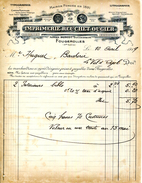 70.HAUTE SAONE.FOUGEROLLES.IMPRIMERIE REUCHET-OUGIER.( 2 PIECES ) - Imprimerie & Papeterie