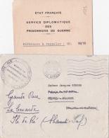 'Guerre 40 L' AMBASSADEUR DE FRANCE - SERVICES DIPLOMATIQUES PRISONNIERS D EGUERRE - Lettre Et Enveloppe - ETAT FRANÇAIS - Documents Historiques