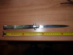 Couteau Cran D'arrêt, Casque , Equipement, 1939-45, 1914-18, - Knives/Swords