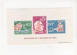POLYNESIE FRANCAISE - 1968 - YVERT Bloc N°1 - HINGED/charnière - Bicentenaire De La Découverte De Tahiti - French Polynesia
