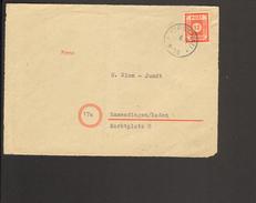 SBZ Ost-Sachsen 12 Pfg.Ziffer Auf Fernbrief-Vorderseite Mit Notstempel Von Kirschau - Sowjetische Zone (SBZ)