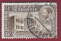 1953 - Parliament Building - Mi:ET 327 - Used - - Etiopia