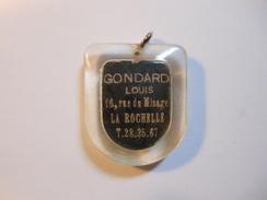 PC0336 - Porte Clé Ancien PHILIPS - GONDARD Louis 16 Rue Du Minage à LA ROCHELLE - Charente-Maritime - Key-rings