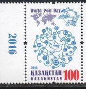 KAZAKHSTAN, 2016, MNH, WOLRD POST Day,1v - Post