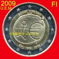 """2 Euro """"U.E.M."""" FINLANDE 2009 Pièce Commémorative De 2,oo Euro. Le 10e Anniversaire De L´Union économique Et Monétaire ( - Finnland"""