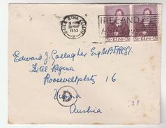 1953  IRELAND  Stamps COVER To AUSTRIA - 1949-... Republic Of Ireland
