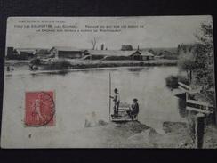 Les EGLISOTTES (Gironde) - Près COUTRAS - PASSAGE Du BAC Aux USINES à PAPIERS De MONTFOURAT - Voyagée Le 14 Mars 1907 - France