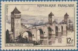 France 1955.. ~ YT 1039** - Cahors. Pont Valentré - France