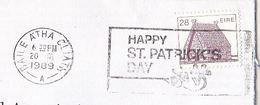 1989 IRELAND COVER Slogan HAPPY ST PATRICKS DAY, Stamps - 1949-... Republic Of Ireland