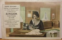CPA-113 - SINGER - SANS EFFORT… - Publicité