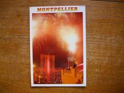 Hérault , Montpellier , Feux D'artifice à L'hôtel De Ville - Montpellier