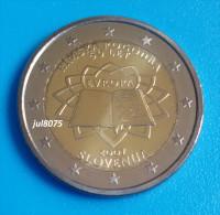2 Euro Commemorative Slovénie 2007 TDR Traité De Rome  PIECE NEUVE UNC - Slowenien