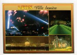 CP 10*15-ROS543-LYON VILLE LUMIERE MULTIVUES 1995 - Lyon
