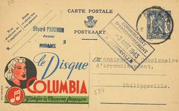 Publibel 534 Schallplatte Columbia Chanson Frankreich Feiern Musiknote Dimant Philippeville - B010 - Pubblicitari