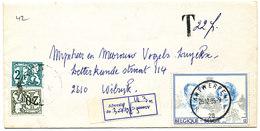 1985 OMSLAG MET COB2198 V. ANTWERPEN N. WILRIJK MET TX67+72 - Taxes