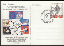 Croatia Zagreb 2012 / Olympic Games London / Philatelic Exhibition / Basketball
