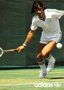 PUBLICITÉ / ADVERTISING : ADIDAS - ILIE NASTASE Au TENNIS - CPSM / VINTAGE POSTCARD - ANNÉE / YEAR ~ 1973 - '75 (v-419) - Tennis
