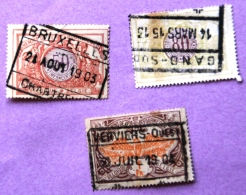 Lot De 3 Timbres Bagages - Luggage