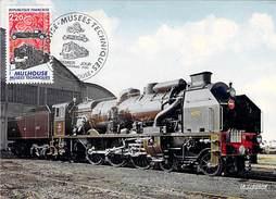 """68 - MULHOUSE. Locomotive """"PACIFIC-CHAPELON"""" N°3.1192 Nord. 1936. Musées Techniques Du Rail 29/11/86 - Mulhouse"""
