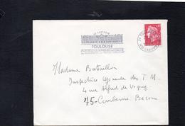"""Flamme Sur Lettre De Toulouse 01 (Haute Garonne) """"Le Capitole """" /  Marienne Cheffer YT 1536 - Postmark Collection (Covers)"""
