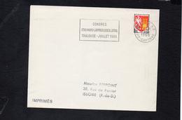 """Flamme Sur Lettre De Toulouse RP (Haute Garonne) """" Congrés Otho-rhino Laringologica Latina""""  /   Blason Agen YT 1353 A - 1961-...."""
