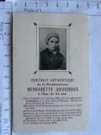 Image Religieuse  -  Portrait Authentique De Bernadette SOUBIROUS à 14 Ans - Photo - Devotion Images