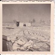 Foto Deutsche Wehrmacht - Unterstand Im Winter - 2. WK - 5*5cm (26512) - Krieg, Militär