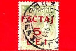 ROMANIA - Usato - 1928 - Re - Pacchi Postali - Parcel Post - 3 - Paquetes Postales