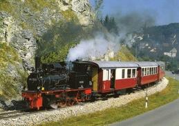 Locomotive Steam (Allemagne)  -  99 7203  -  Amstetten-Oppingen  -  CPM - Trains