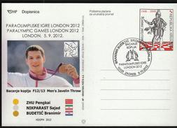 Croatia Zagreb 2012 / Paralympic Games London 2012 / Javelin Throw / Branimir Budetuc / Bronze Medal Winner