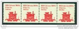 "-USA- 1981- ""RR Caboose"" Strip Of 4 -- ** - Coils & Coil Singles"