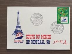Cartolina Ufficiale Campionato Mondiale Calcio France '98 Annullo 1° Giorno Parigi 12-12-1995 - Calcio