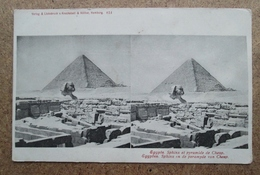 (J650) - Carte Stéreo - Egypte - Sphinx Et Pyramide De Cheop - Sphinx