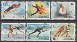 Liberia  Scott  No. 867-72   Used    Year  1980 - Liberia