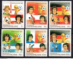 CENTRAFRIQUE   N° 579/82  PA 285/86 * *  (cote 9.45e)  Cup 1982   Football Fussball Soccer - Coupe Du Monde